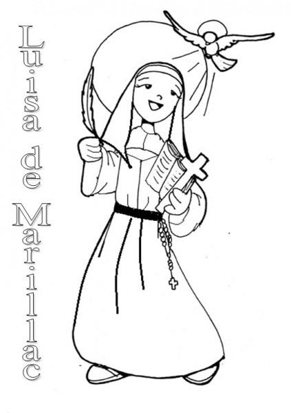 Luisa De Marillac  Dibujo Para Colorear