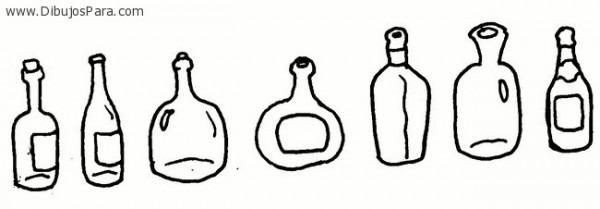 Dibujo De Botellas De Vidrio – Dibujos Para Colorear