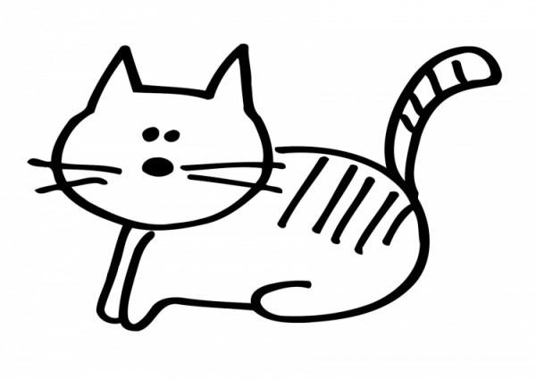 Dibujos Para Colorear De Gatos Bonitos