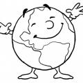 Dibujos Del Planeta Tierra Contaminado Para Colorear