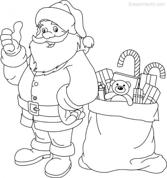 Papá Noel Dibujos De Navidad Para Colorear E Imprimir Grandes