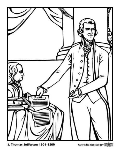 Dibujo Para Colorear 03 Thomas Jefferson