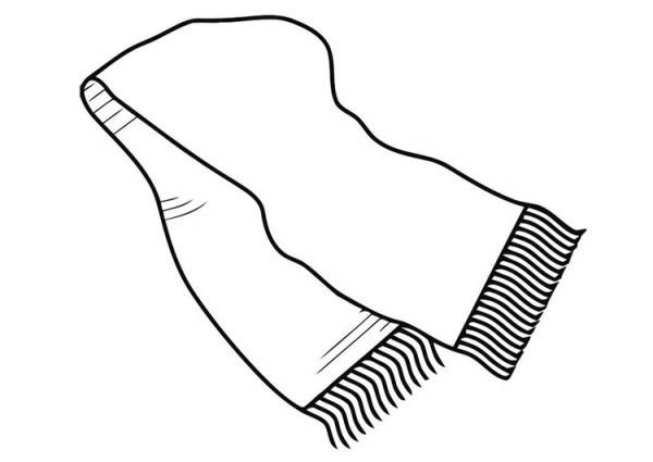 Dibujo Para Colorear Bufanda