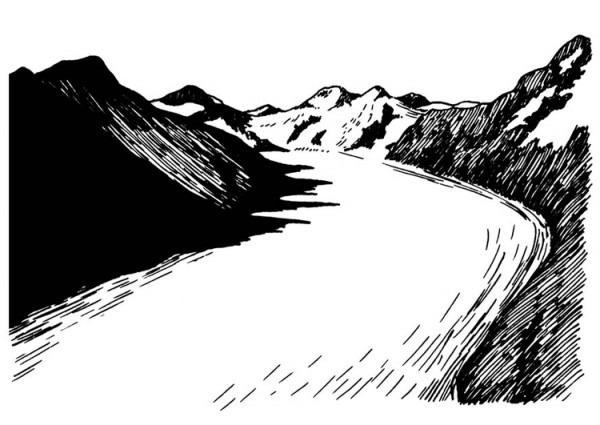 Dibujo Para Colorear Glaciar