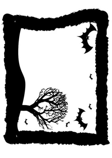 Dibujo Para Colorear Marco De Halloween