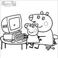 Dibujos Para Colorear De Peppa Pig En Linea