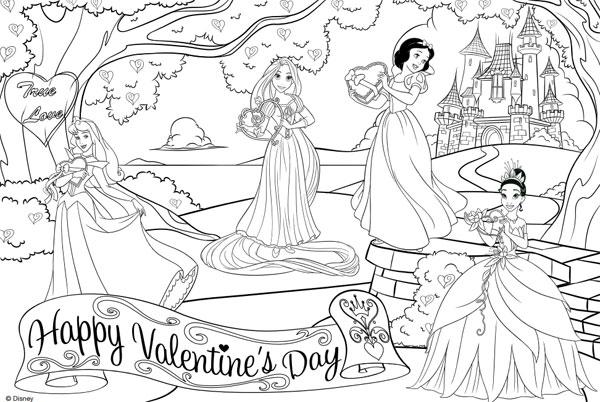 Dibujos De San Valentín Para Colorear ¡de Disney!
