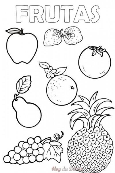 Dibujos Para Colorear De Frutas Para Imprimir