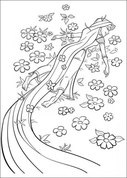 Dibujo De Rapunzel Bebe Para Colorear