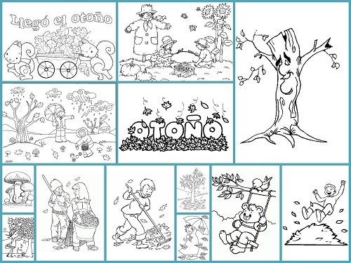 Lega El Otoño !! Dibujos Para Colorear