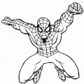 Spiderman Para Colorear Facil