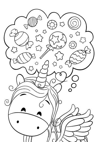 Dibujos De Unicornios Para Colorear 🦄
