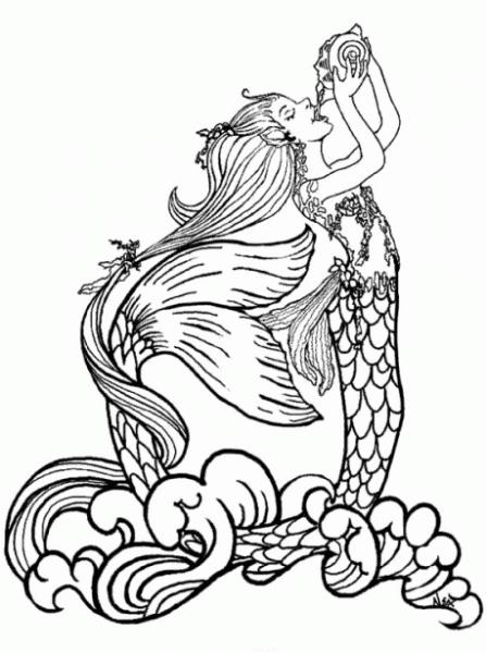 Dibujos Para Colorear De Barbie Sirena (iv)
