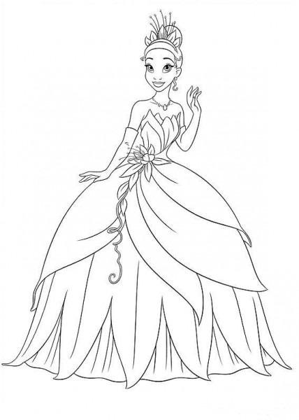 Las Princesas Para Colorear  Dibujos Para Colorear Princesas Disney