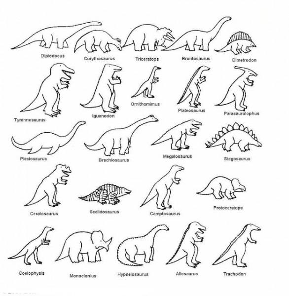 Imágenes Para Colorear De Los Dinosaurios Carnívoros
