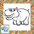 Hipopotamo Animado Para Colorear