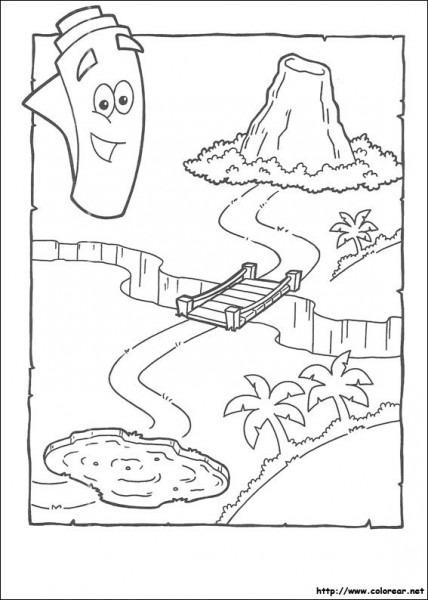 Doras Y Botas  Mapa Indica El Camino, Para Colorear,