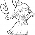 Dibujos Para Colorear De Dora Para Imprimir