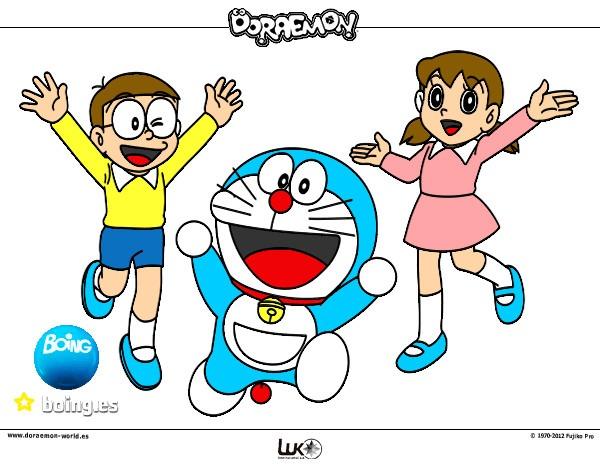 Dibujo De Doraemon Y Sus Amigos Pintado Por Lordjedi10 En Dibujos