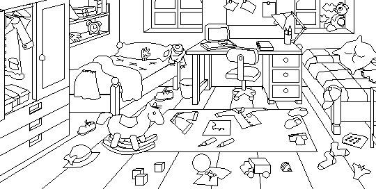 Dibujo Dormitorio Para Colorear