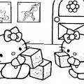 Hello Kitty Para Colorear Bebe