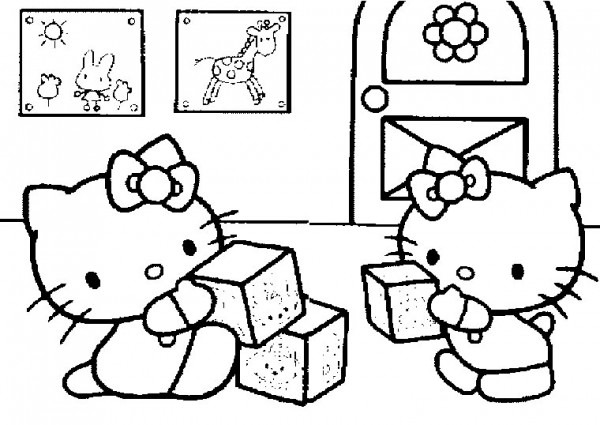 Hello Kitty  269 (cartoons) – Printable Coloring Pages