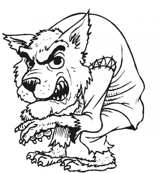 Hombre Lobo  25 (personajes) – Páginas Para Colorear