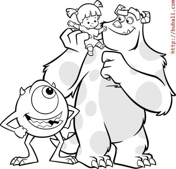 Monsters Inc   53 (películas De Animación) – Páginas Para Colorear