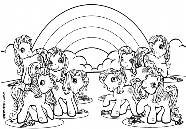 My Little Pony  317 (cartoons) – Printable Coloring Pages