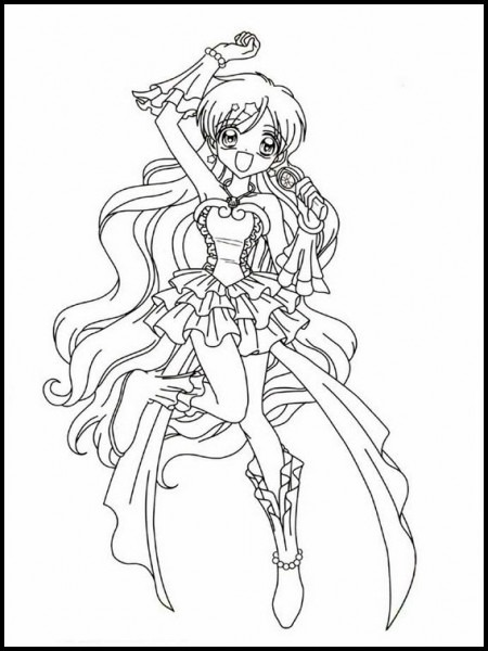 Mermaid Melody Pichi Pichi Pitch 41 Printable Coloring Pages For
