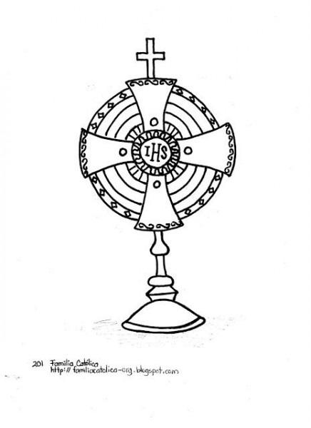 Familia Católica  La Santa Eucaristía  Páginas Para Colorear Para