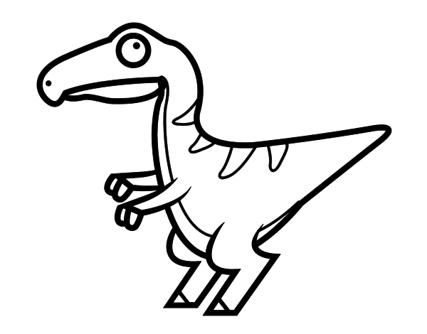 Dibujo De Velociraptor Bebé Para Colorear