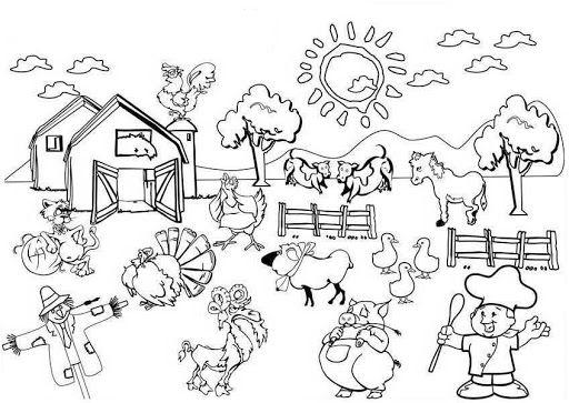 Dibujo De Una Comunidad Para Niños