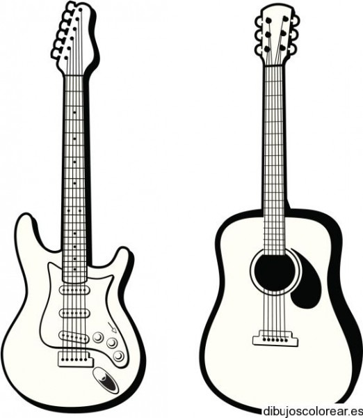 Dibujos Para Colorear De Instrumentos Musicales, Plantillas Para