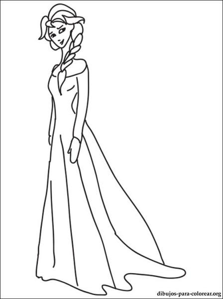 Dibujo De Princesa Elsa Para Colorear