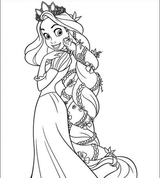 Cosas Para NiÑos  Dibujos Para Colorear De Enredados  Rapunzel Con