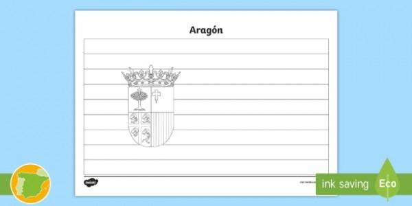 Hoja De Colorear  La Bandera De Aragón