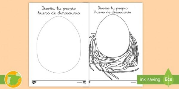 Ficha De Actividad  Diseña Tu Propio Huevo De Dinosaurio