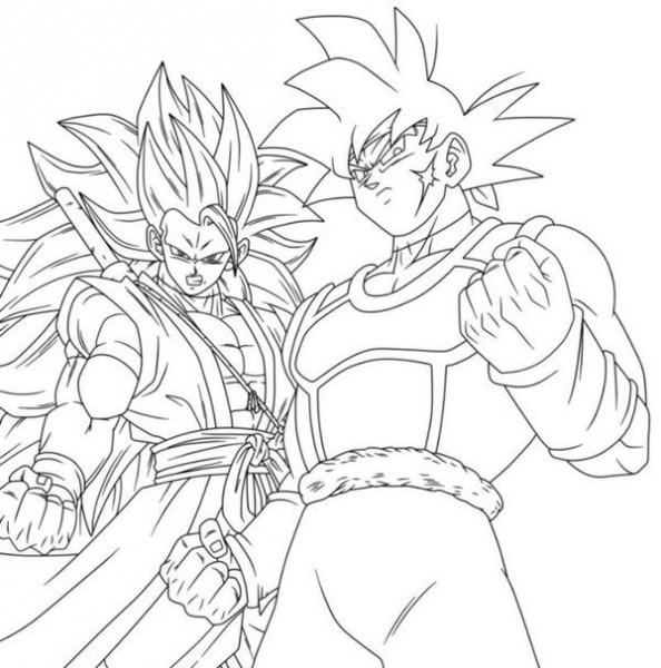 Xeno Bardock & Xeno Goku Ssj3
