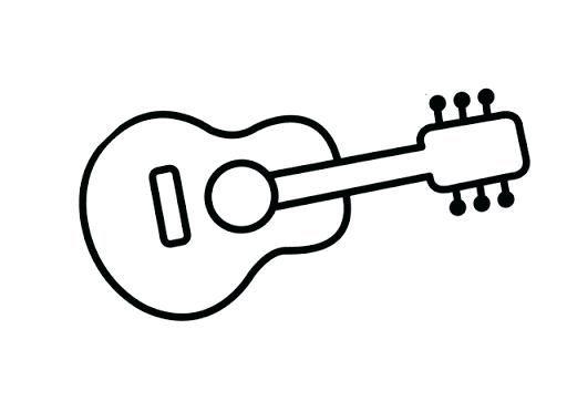 Guitarra Para Colorear Guitarra De Coco La Pelicula Para Colorear
