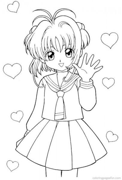 Cardcaptor Sakura Coloring Page