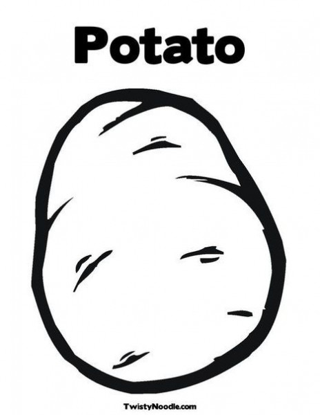 Potato Coloring Pages