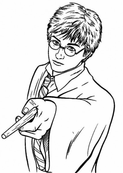 Resultado De Imagen Para Dibujos De Harry Potter Para Colorear