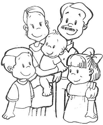 Dibujos Para Pintar  Dibujos Para Pintar Familia