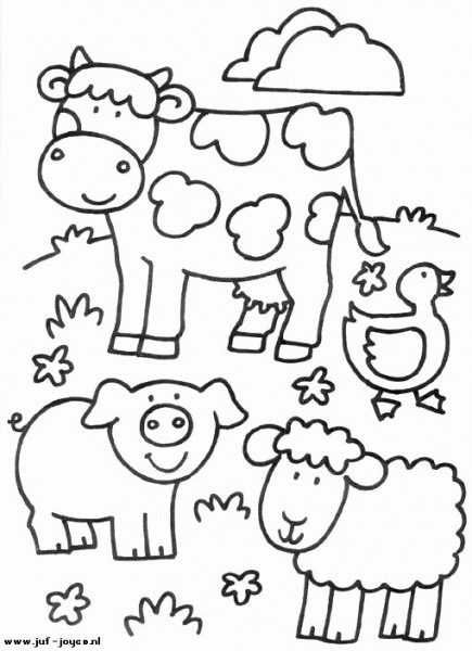 Farm Animal Coloring Page Luxury Animales De Granja Dibujos Para