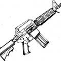 Dibujos De Pistolas Para Colorear