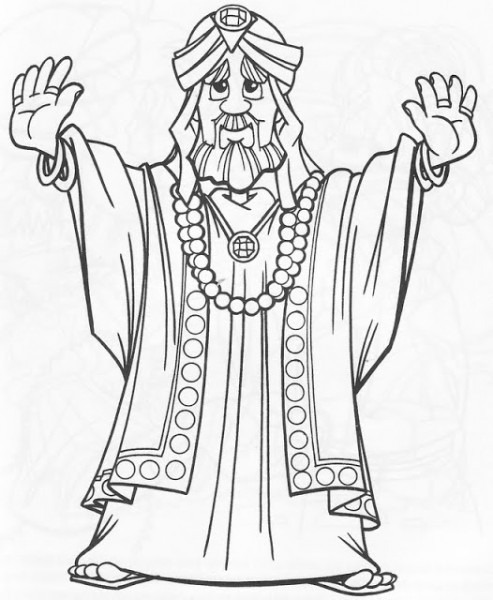 Dibujos Católicos   Rey Salomón Para Colorear