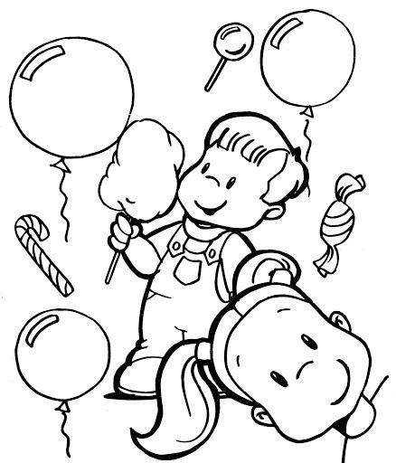 Dibujos Para Imprimir De NiÑos Alegres