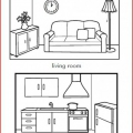 Dibujos Partes De La Casa Para Colorear