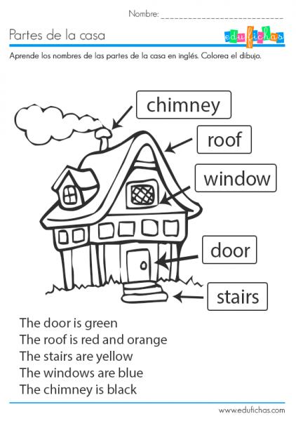 ▷ Partes De La Casa En Inglés